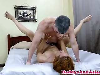 Mature Dad Toying Filipino Pain In The Neck At The Anal
